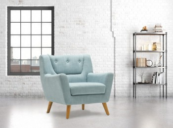 Birlea Lambeth Armchair In Duck Egg Blue Fabric