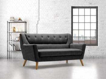 Birlea Lambeth 3 Seater Sofa In Grey Fabric