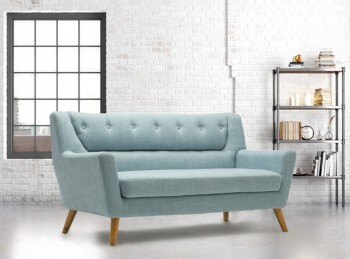 Birlea Lambeth 3 Seater Sofa In Duck Egg Blue Fabric