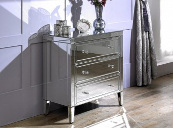 Birlea Valencia 3 Drawer Mirrored Chest