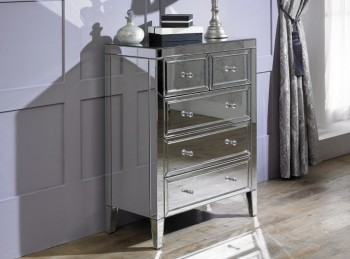 Birlea Valencia 3 Plus 2 Drawer Mirrored Chest