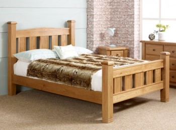 Birlea Woodstock 5ft Kingsize Oak Wooden Bed Frame