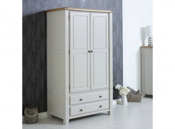 Birlea Woodstock 2 Door 2 Drawer Grey Wardrobe