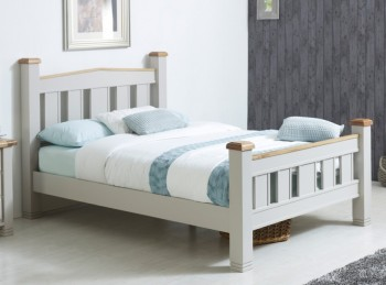 Birlea Woodstock 4ft6 Double Grey Wooden Bed Frame