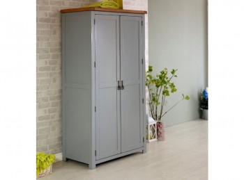 Birlea New Hampshire Grey 2 Door Wardrobe
