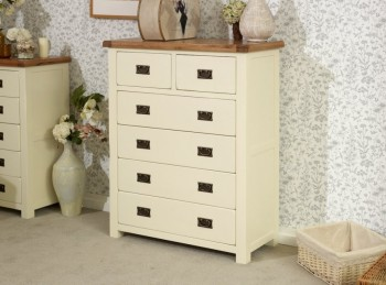 Birlea New Hampshire Cream 4 Plus 2 Drawer Chest