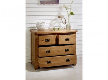 Birlea Malvern Oak 2 Plus 2 Chest Of Drawers