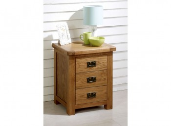 Birlea Malvern Oak 3 Drawer Bedside