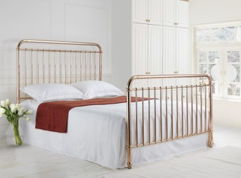 Time Living Rose 4ft6 Double Rose Gold Metal Bed Frame