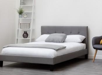 a8d1ac3455ed Sleep Design Blenheim 4ft6 Double Grey Fabric Bed Frame