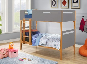 Birlea Islington 3ft Single Oak And Grey Wooden Bunk Bed