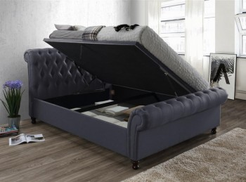 Birlea Castello 5ft Kingsize Charcoal Fabric Ottoman Bed Frame