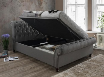 Birlea Castello 6ft Super Kingsize Grey Fabric Ottoman Bed Frame