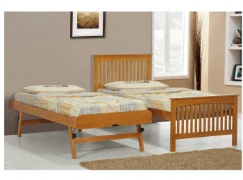 Sleep Design Prestbury Oak Wooden Guest Bed