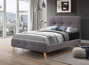 Flair Furnishings Nordic 5ft Kingsize Grey Fabric Bed Frame