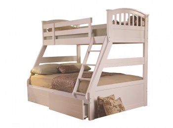 Sweet Dreams Epsom Triple Sleeper Bunk Bed in White