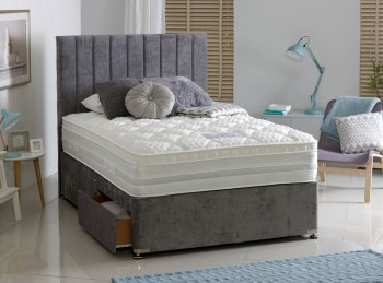 Dura Bed Oxford 1000 Pocket Sprung 4ft Small Double Divan Bed with Memory Foam