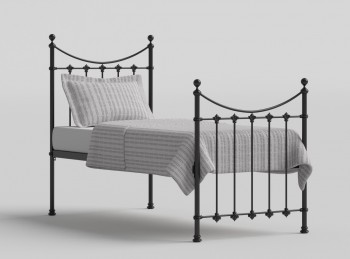 OBC Chatsworth 3ft Single Satin Black Metal Bed Frame