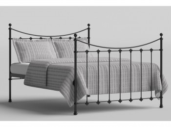 OBC Chatsworth 4ft6 Double Black Metal Headboard