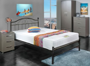 Metal Beds Sussex 4ft6 Double Black Metal Bed Frame