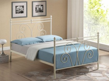 Stunning New Luxury Eliza Crushed VelvetChenille Fabric Diamante Bed Frame Available In 6 Unique Colours 4ft6