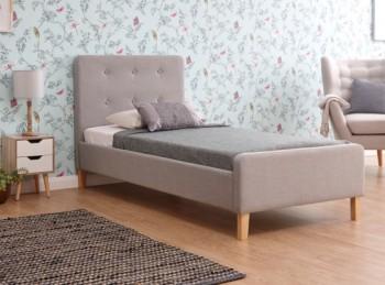 82486cd9538d GFW Ashbourne 3ft Single Light Grey Fabric Bed Frame