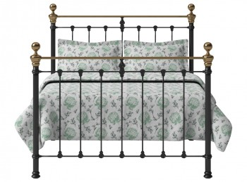OBC Hamilton 4ft Small Double Satin Black Metal Headboard