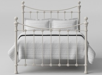 OBC Selkirk 4ft Small Double Solo Glossy Ivory Metal Bed Frame
