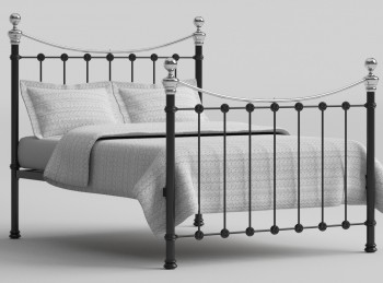 OBC Selkirk 4ft Small Double Chromo Black Metal Bed Frame