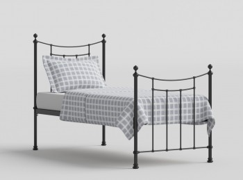 OBC Winchester 3ft Single Satin Black Metal Bed Frame