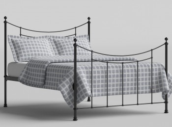 OBC Winchester 4ft Small Double Satin Black Metal Bed Frame