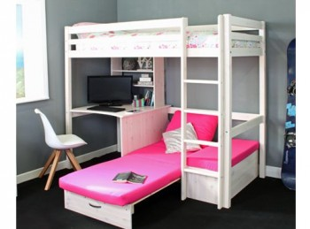 Thuka Hit 7 Childrens High Sleeper Bed With Desk And Chairbed