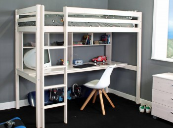 Thuka Hit 10 Childrens High Sleeper Bed With Desk