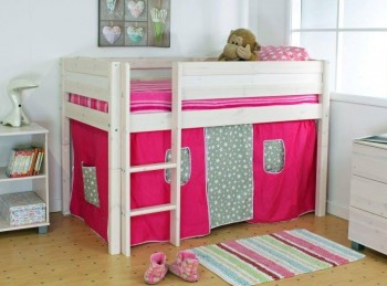 Thuka Trendy Shorty C Midsleeper Bed With Straight Ladder