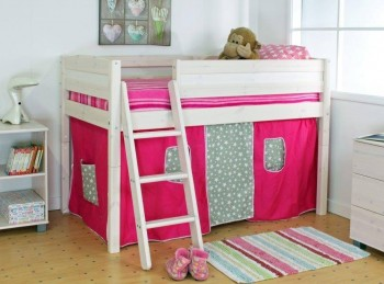 Thuka Trendy Shorty C Midsleeper Bed With Slanting Ladder