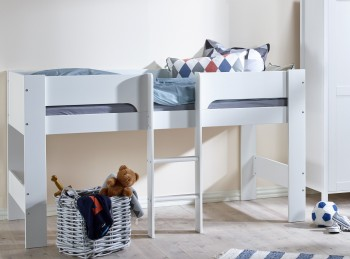 Flexa Modern Childrens Mid Sleeper Bed