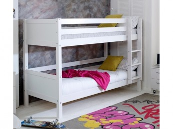 Flexa Nordic Bunk Bed 1 With Flat White End Panels