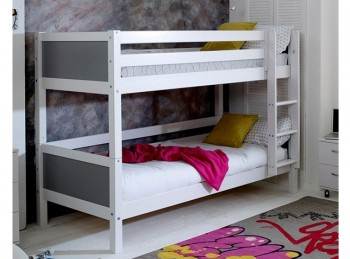 Flexa Nordic Bunk Bed 1 With Flat Grey End Panels
