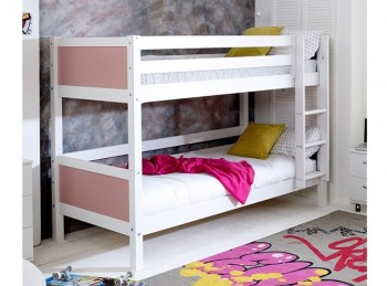 Flexa Nordic Bunk Bed 1 With Flat Rose End Panels