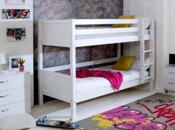 Flexa Nordic Bunk Bed 1 With Grooved White End Panels