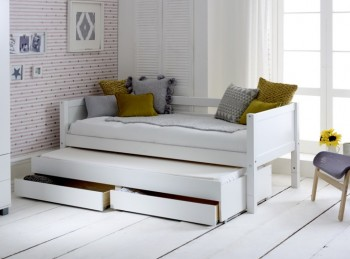 Flexa Nordic Day Bed 1 With Flat White End Panels