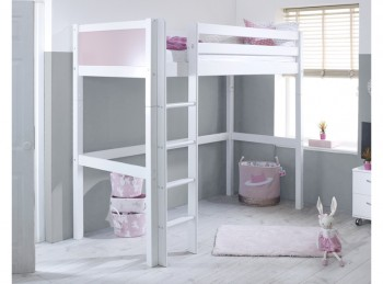 Flexa Nordic Highsleeper Bed 1 With Rose Colour End Panels