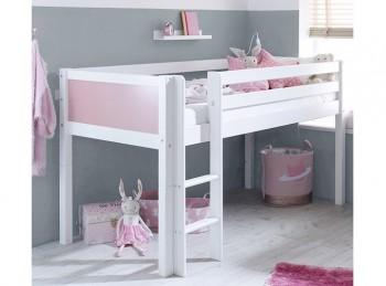 Flexa Nordic Midsleeper Bed 1 With Rose End Panels