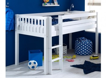 Flexa Nordic Midsleeper Bed 1 With Slatted End Panels