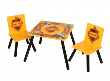 Kidsaw JCB Muddy Friends Table And Chairs