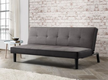 Birlea Aurora Grey Velvet Fabric Sofa Bed