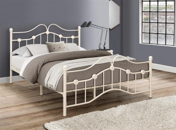 Birlea Canterbury 3ft Single Cream Metal Bed Frame