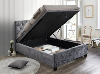 Birlea Cologne 5ft Kingsize Steel Fabric Ottoman Bed Frame