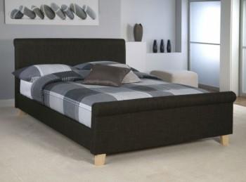 Limelight Orbit 4ft6 Double Plush Silver Velvet Fabric Bed