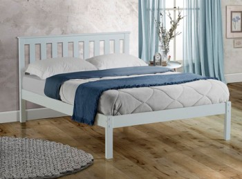 Birlea Denver 5ft Kingsize White Wooden Bed Frame